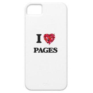 Amo las páginas iPhone 5 carcasa
