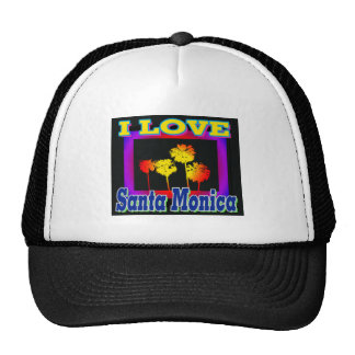 AMO las palmeras de Santa Mónica en el gorra de la