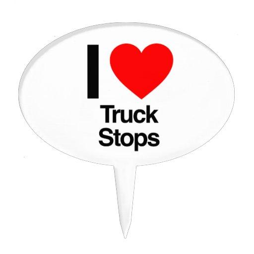 amo las paradas de camiones figuras de tarta