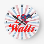 Amo las paredes, Mississippi Reloj De Pared