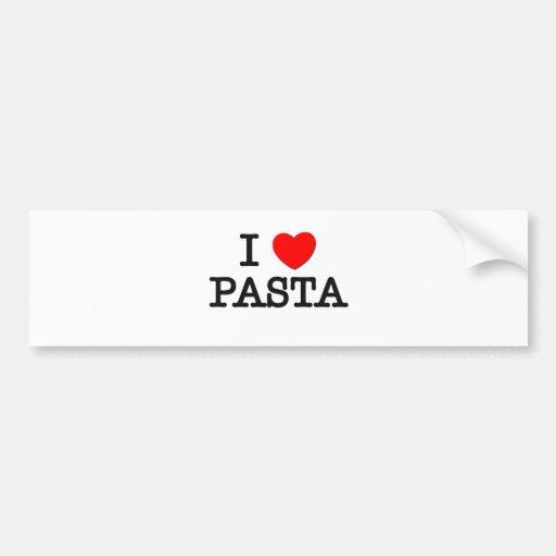 Amo las PASTAS (la comida) Pegatina De Parachoque