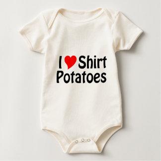 ¡Amo las patatas de la camisa! Mameluco De Bebé