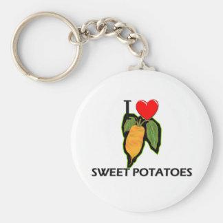 Amo las patatas dulces llavero