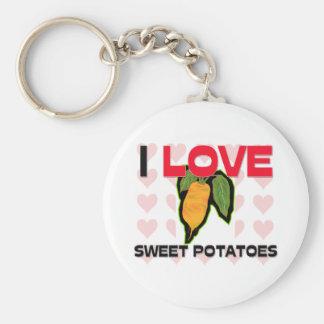 Amo las patatas dulces llaveros personalizados