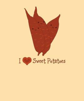 Amo las patatas dulces camiseta