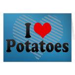 Amo las patatas felicitacion