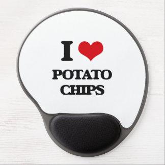 Amo las patatas fritas alfombrillas de raton con gel