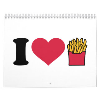 Amo las patatas fritas calendarios