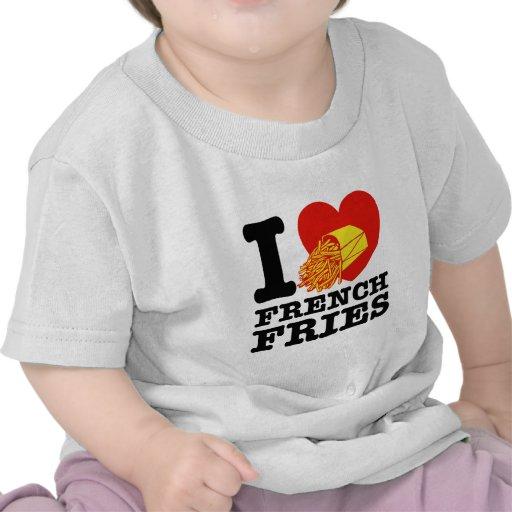 Amo las patatas fritas camiseta