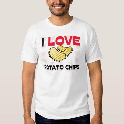 Amo las patatas fritas remeras