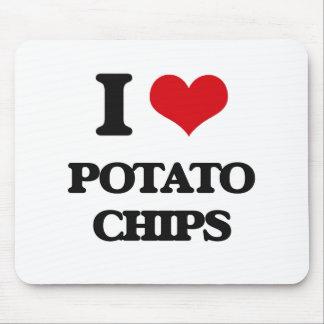 Amo las patatas fritas tapetes de raton