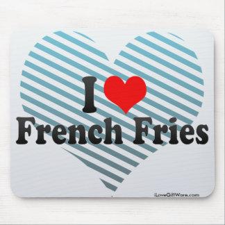 Amo las patatas fritas alfombrillas de ratones