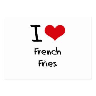 Amo las patatas fritas tarjetas de visita