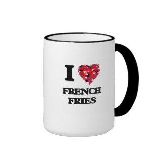 Amo las patatas fritas taza a dos colores