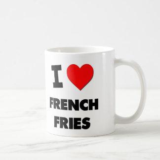 Amo las patatas fritas taza básica blanca