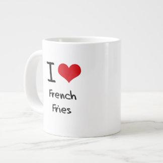 Amo las patatas fritas taza grande