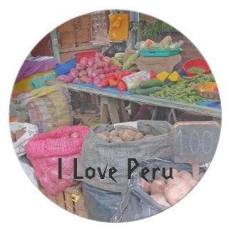 Amo las patatas Perú-Peruanas Platos De Comidas