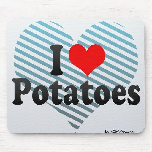 Amo las patatas tapetes de raton