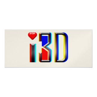 """amo las películas 3D Invitación 4"""" X 9.25"""""""