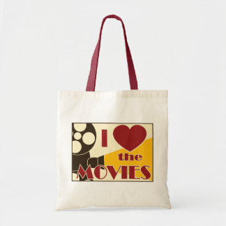 Amo las películas bolsa tela barata