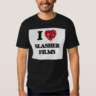 Amo las películas de Slasher Playeras