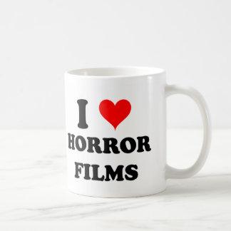 Amo las películas de terror taza