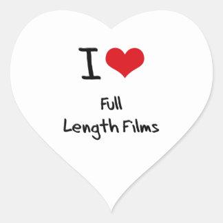 Amo las películas integrales colcomanias corazon