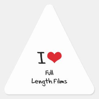 Amo las películas integrales calcomanías trianguladas