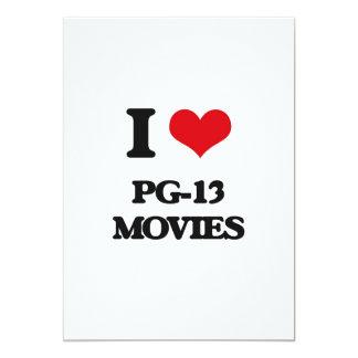 """Amo las películas Pg-13 Invitación 5"""" X 7"""""""