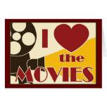 Amo las películas tarjeton