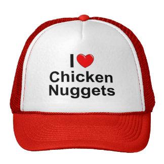 Amo las pepitas de pollo del corazón gorro