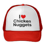 Amo las pepitas de pollo (del corazón) gorro