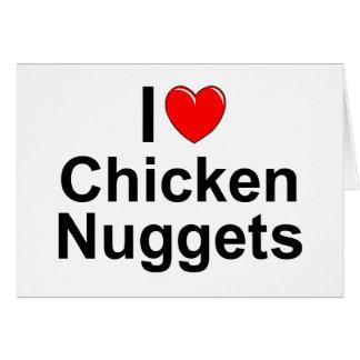 Amo las pepitas de pollo (del corazón) tarjeta de felicitación