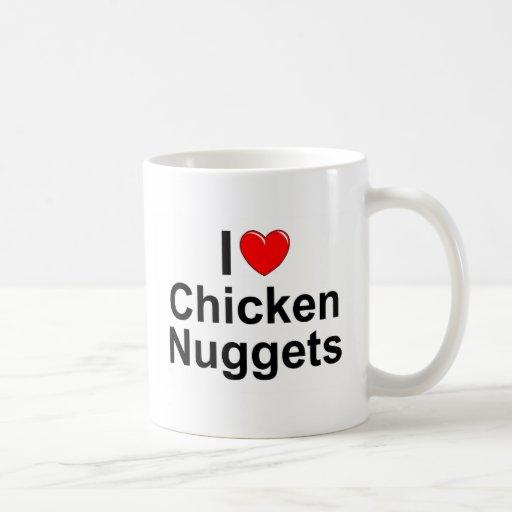 Amo las pepitas de pollo (del corazón) taza de café
