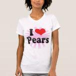 Amo las peras camisetas