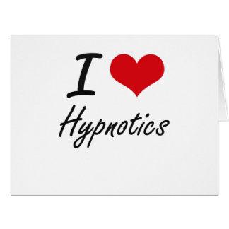 Amo las personas hipnotizadas tarjeta de felicitación grande