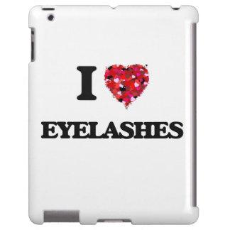 Amo las pestañas funda para iPad