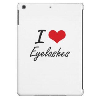 Amo las PESTAÑAS Funda Para iPad Air