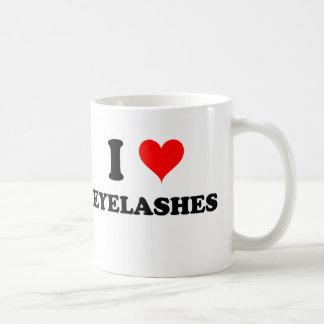 Amo las pestañas tazas de café