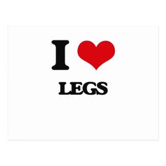 Amo las piernas tarjetas postales