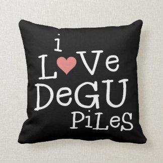 Amo las pilas de Degu Cojín