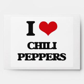 Amo las pimientas de chile