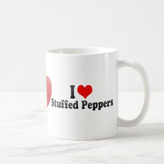 Amo las pimientas rellenas taza