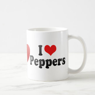 Amo las pimientas taza