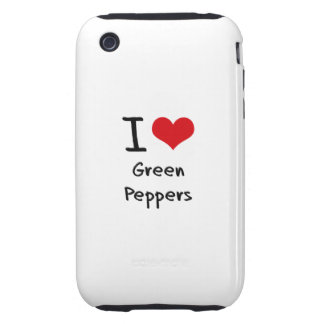 Amo las pimientas verdes tough iPhone 3 cárcasa