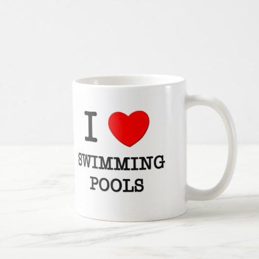 Amo las piscinas taza básica blanca
