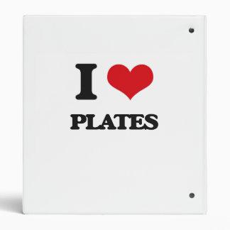 "Amo las placas carpeta 1"""