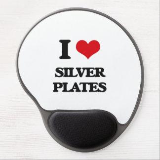 Amo las placas de plata alfombrilla con gel