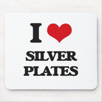 Amo las placas de plata alfombrillas de raton