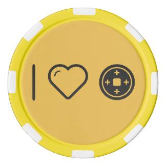 Amo las placas fichas de póquer